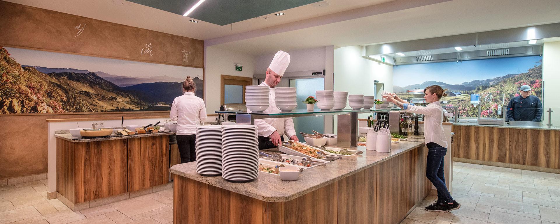 Buffet - Restaurant im Hotel Sportwelt