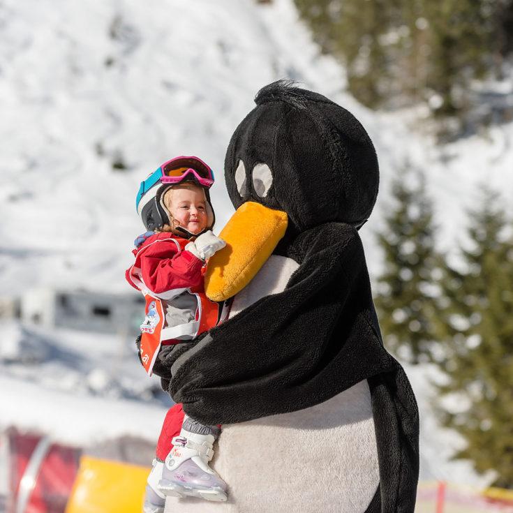Skispielunterricht in der Skischule in Zauchensee